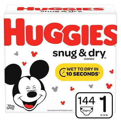 Huggies Snug & Dry Diapers Super Pack - Size 1 (144ct)