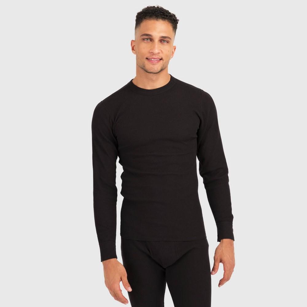Image of Hanes Premium Men's Long Sleeve X-Temp Fresh IQ Thermal T-Shirt - Black 2XL