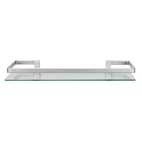 19 75 Floating Glass Bathroom Wall Shelf Chrome Danya B Target