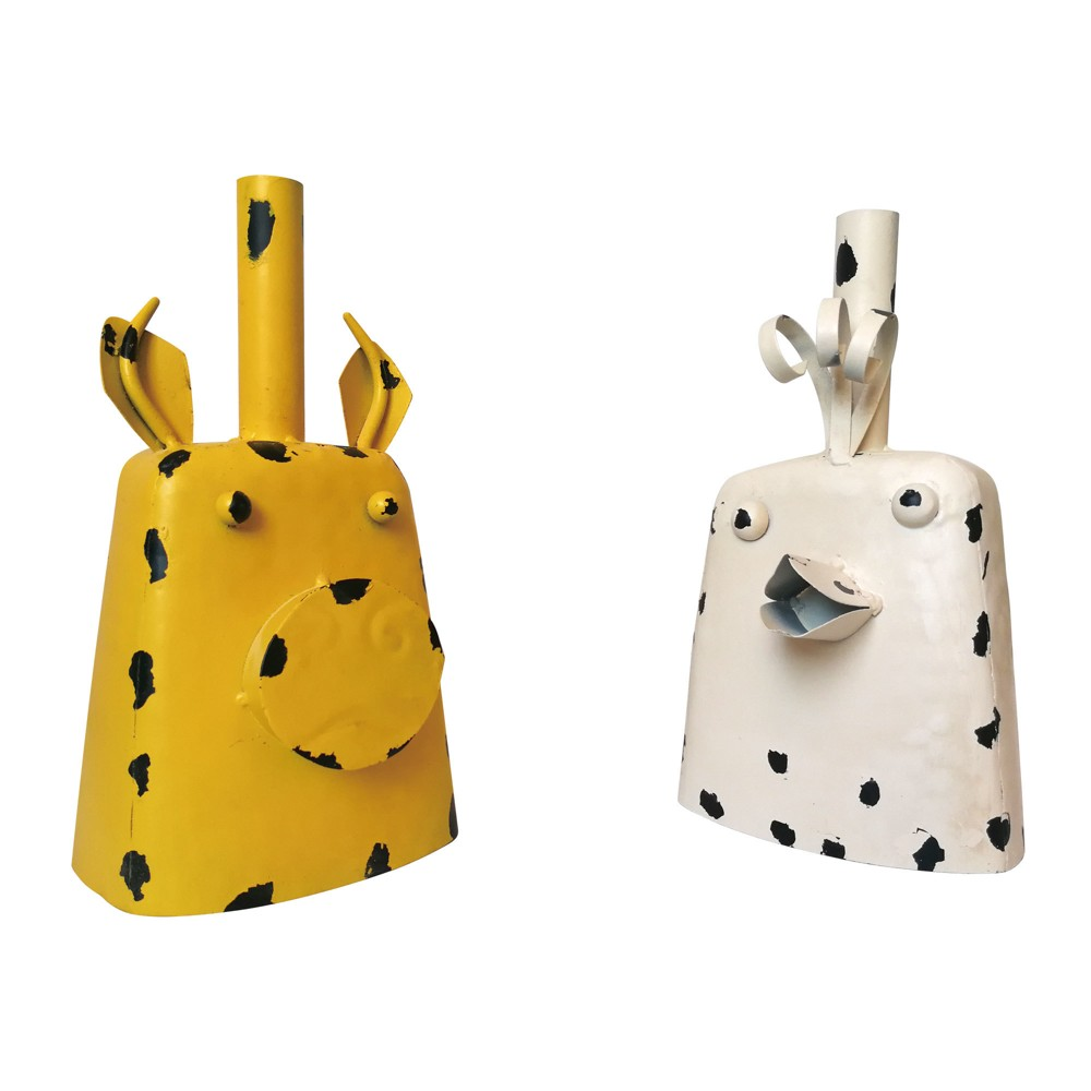 "Image of ""11""""H Metal Farm Animal Cow Bell Set - Backyard Expressions"""