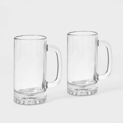 16oz 2pk Glass Beer Mugs - Threshold™