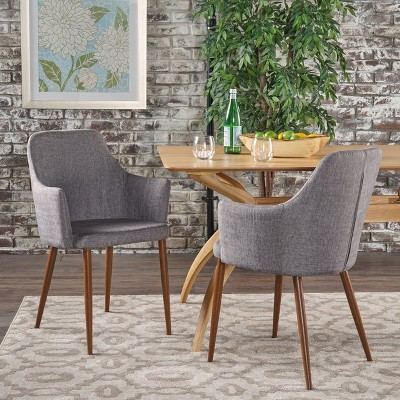 Set Of 2 Zeila Mid Century Dining Chair - Christopher Knight Home : Target