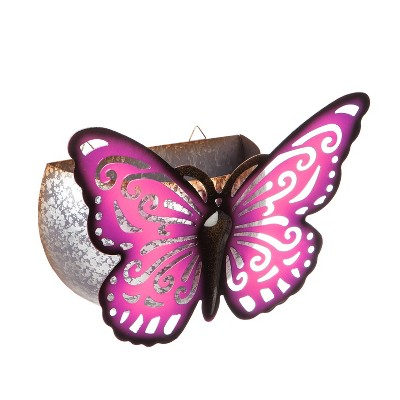 Hanging Butterfly Planter, Purple