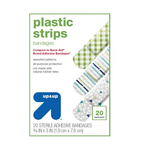 Vibrant Patterned Bandages - 20ct - Up&Up™ (Compare to Band-Aid Brand Adhesive Bandages) - image 1 of 1