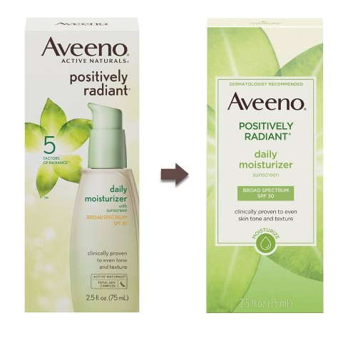 ae2d14fb110 Aveeno Positively Radiant Daily Moisturizer With Soy - 2.5 Fl Oz : Target