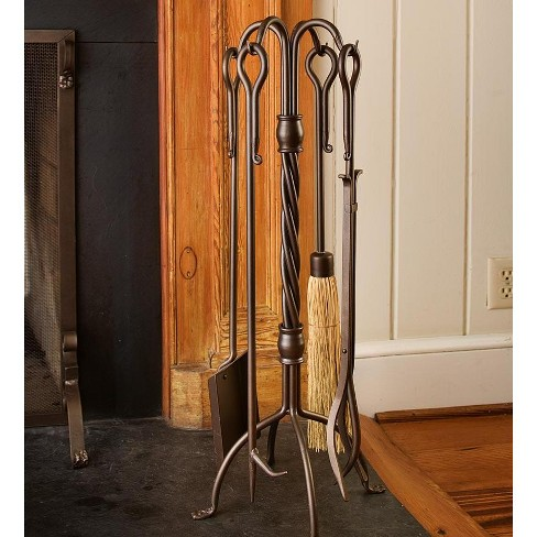 Hand-Forged Closed Weave Fireplace Tool Set - Plow & Hearth - image 1 of 1
