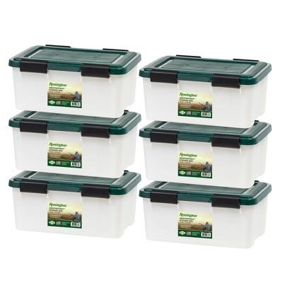 IRIS 6pk 19qt Remington Weathertight Storage Box