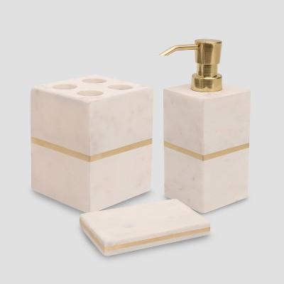Gold Accent Modern Bathroom Accessories