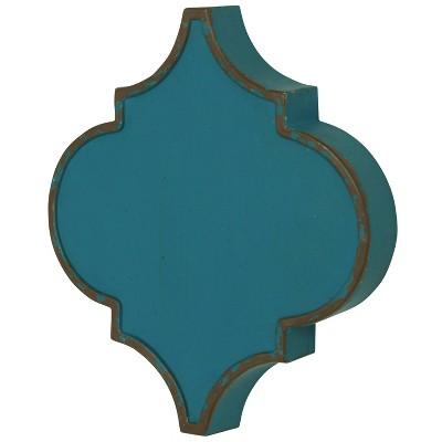 Metal Quatrefoil Wall Decor Turquoise - StyleCraft