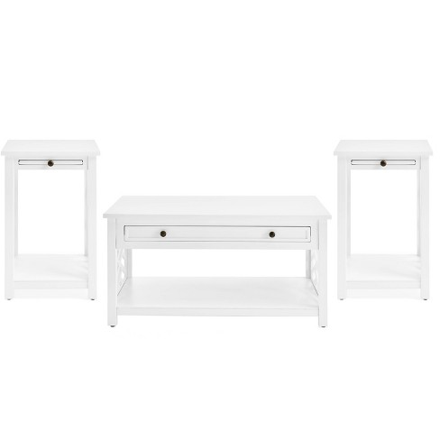 36 Middlebury Coffee Table With Drawer And 2 End Tables With Tray Shelf Alaterre Furniture Target