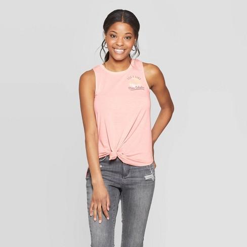 Women's I Like Pina Colada Tank Top (Juniors') - Pink M - image 1 of 2