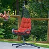 Cushioned Rattan Wicker Hanging Chair with Stand - Terra Cotta - Algoma - image 2 of 4