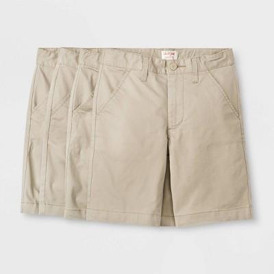 Boys' 4pk Flat Front Stretch Uniform Shorts - Cat & Jack™ Khaki