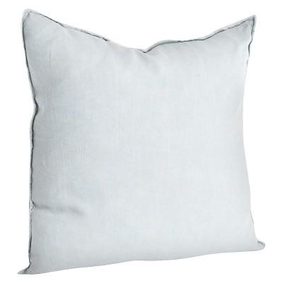 "20""x20"" Oversize Fringed Design Linen Square Throw Pillow Bluish Gray - Saro Lifestyle"