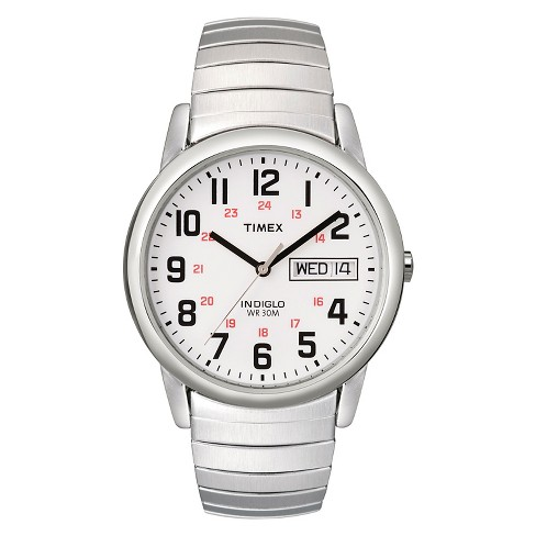 Men's Timex Easy Reader® Expansion Band Watch - Silver T204619J - image 1 of 1