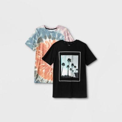 Boys' 2pk Graphic Short Sleeve T-Shirt - art class™ Orange/Black