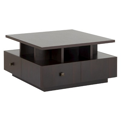 Campfield Modern Tiered Design Coffee Table Espresso - HOMES: Inside + Out