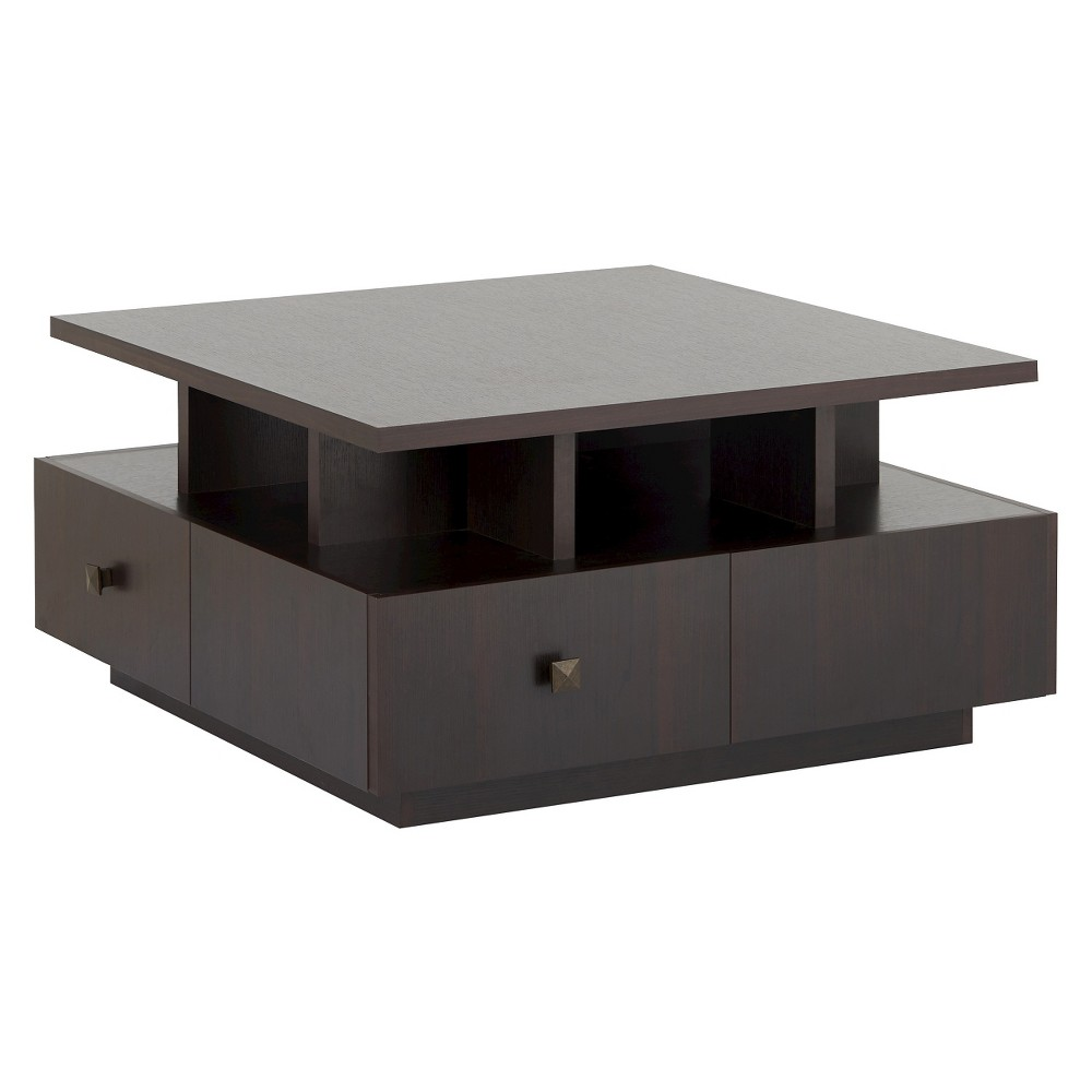 Campfield Modern Tiered Design Coffee Table Espresso (Brown) - Homes: Inside + Out