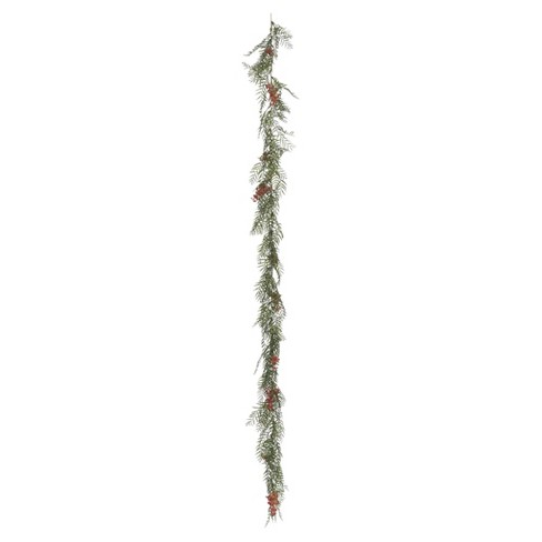 Artificial Brazil Berry/Leaf Garland (6') Green - Vickerman - image 1 of 1