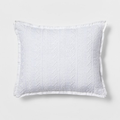 Oblong Embroidered Throw Pillow White - Simply Shabby Chic®
