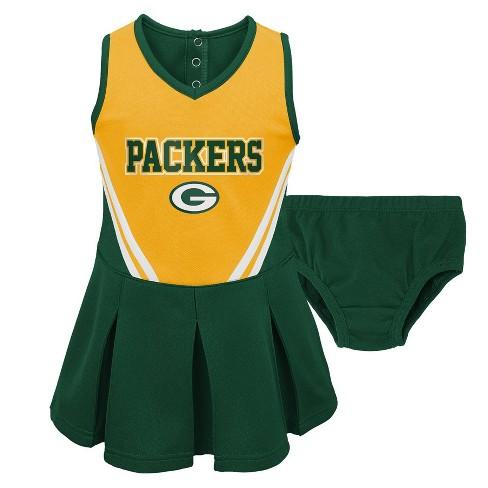 wholesale dealer d4b40 25c5b NFL Green Bay Packers Toddler Girls' In the Spirit Cheer Set - 2T