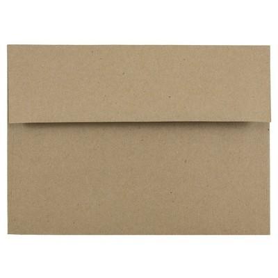 JAM Paper®, Brown Kraft Paper Bag Envelopes, #10 4.125  x 9.5 , 50pk