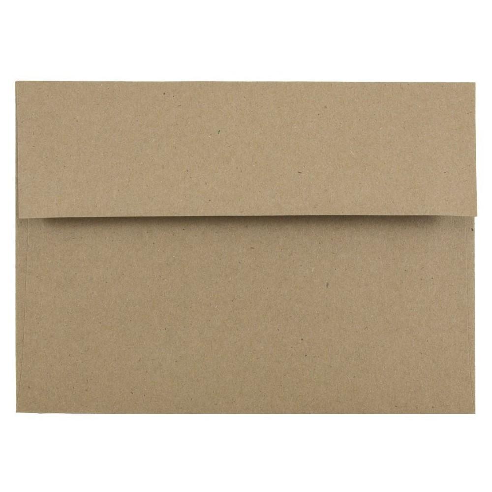 Jam Paper, Brown Kraft Paper Bag Envelopes, A7 5.25