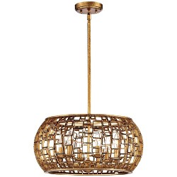 """Metropolitan Lighting N7135-597 Abbondanza Convertible 6 Light 20"""" Wide Drum Chandelier / Wall Sconce with Hand Fused"""