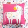 5pc Full/Queen Unicorn Heart Bedding Set with Unicorn Throw Pillow White - Lush Dcor - image 4 of 4