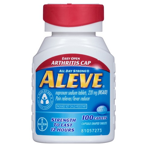 Aleve Arthritis Pain Reliever & Fever Reducer Caplets - Naproxen Sodium (NSAID) - 100ct - image 1 of 4