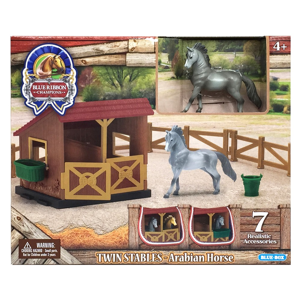 Blue Ribbon Champions 1/32 Scale Twin Stables - Arabian Horse