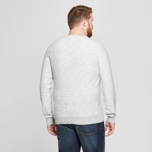 992e4960be Men s Big   Tall Crew Neck Sweater - Goodfellow   Co™ Light Grey   Target