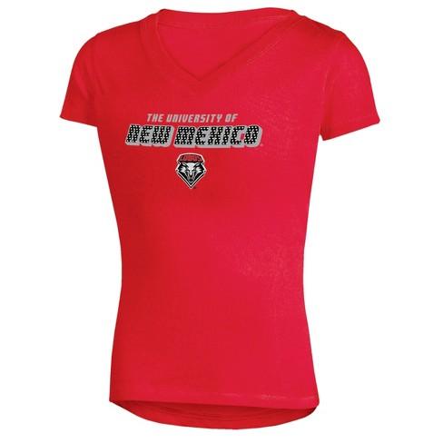 dce8e6182fa New Mexico Lobos Girls  Short Sleeve Bright Lights V-Neck T-Shirt ...