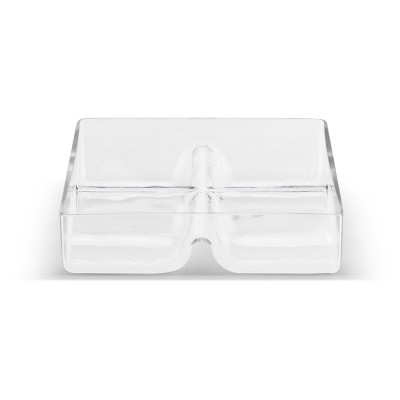 DEMDACO Glass 4-Section  Divided Serving Dish Clear