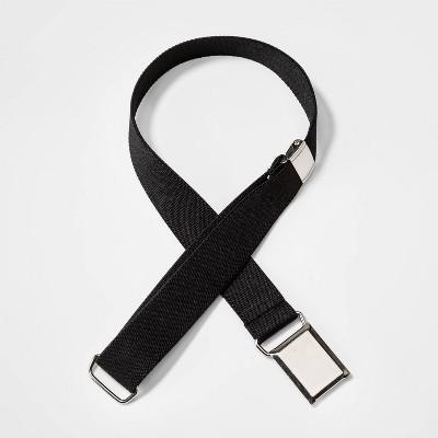 Toddler Boys' Hanging Buckle Closure Belt - Cat & Jack™ Black