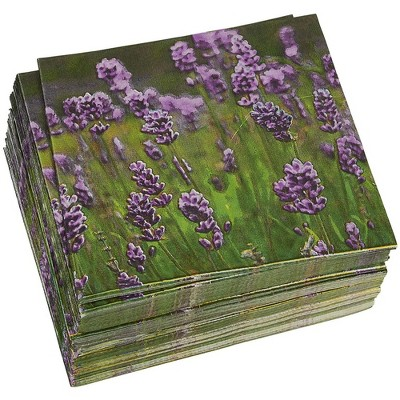 Juvale 100-Pack Lavender Disposable Paper Napkins Party Supplies 6.5 In