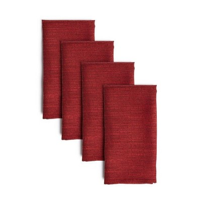 "4pk 20""X20"" Harper Napkins Maroon - Town & Country Living"