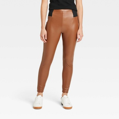 Women's Faux Leather Leggings - A New Day™