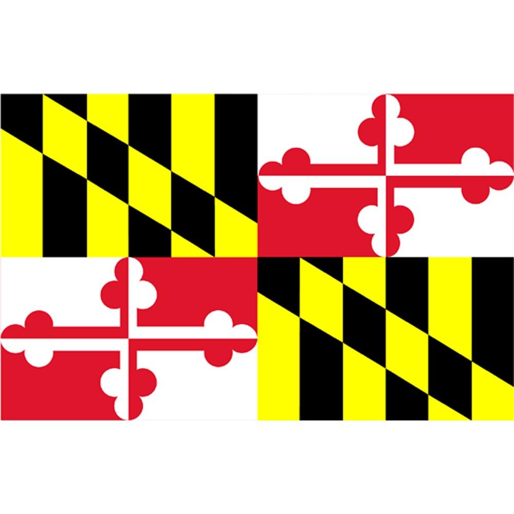 Image of Halloween Maryland State Flag - 3' x 5'