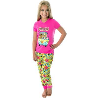 Scooby Doo Girls' Mystery Machine Shirt And Pants 2 PC Pajama Set