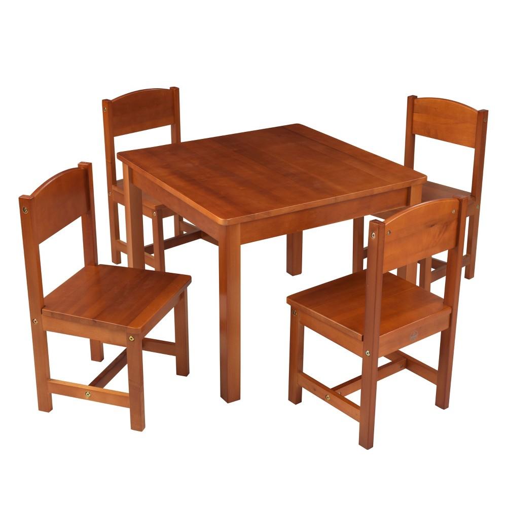 Image of Farmhouse Table 4 Chair Pecan - KidKraft, Brown