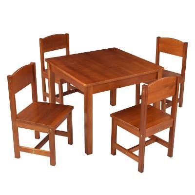 Farmhouse Table 4 Chair Pecan   KidKraft