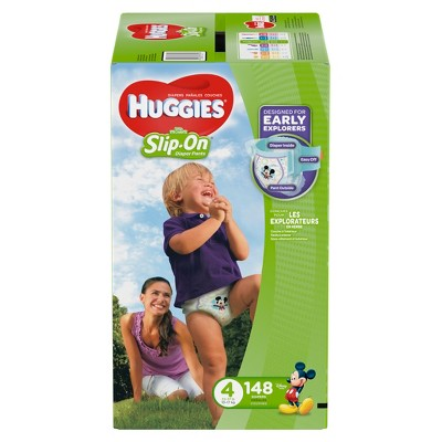 Huggies Little Movers Slip-On Diaper Pants Economy Plus Pack - Size 4 (148ct)