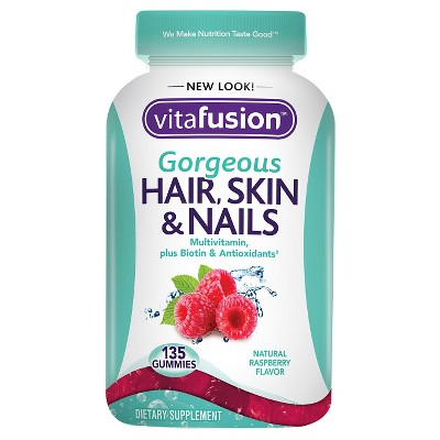 Vitafusion Hair Skin & Nails Dietary Supplement Adult Gummies - 135ct