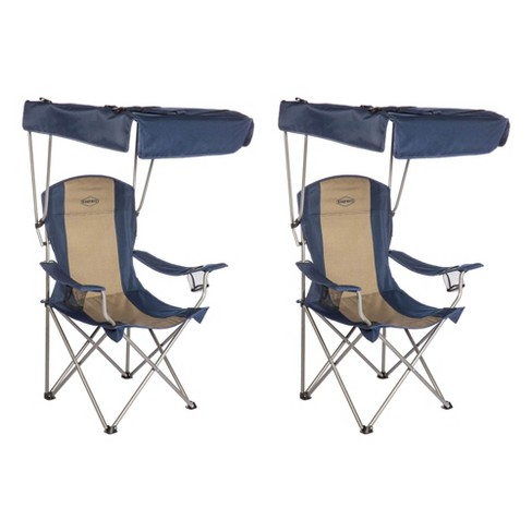 Kamp-Rite CC463 Outdoor Tailgating Camping Sun Shade Canopy Folding Lawn Chair