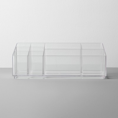 Bathroom Plastic 9 Slot Mixed Cosmetic Organizer Clear - Made By Design™