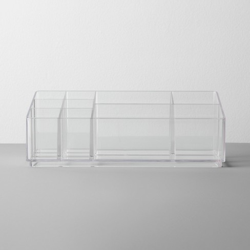 Bathroom Plastic 9 Slot Mixed Cosmetic Organizer Clear - Made By Design™ - image 1 of 3