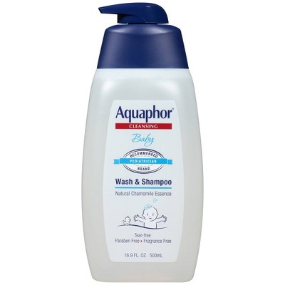 Aquaphor Baby Wash and Shampoo Tear-free & Mild for Sensitive Skin - 16.9 fl oz