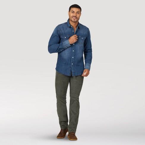 Wrangler Men's Work Shirt - Denim Blue - image 1 of 4