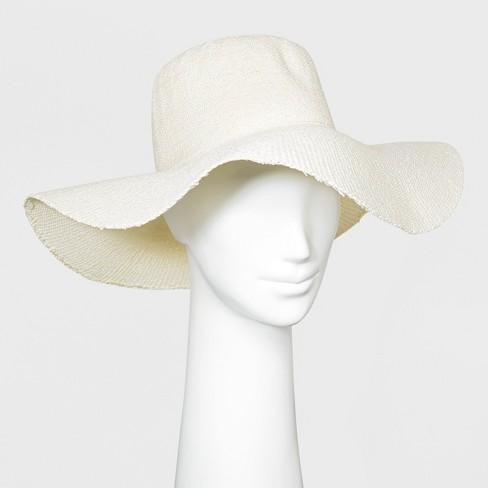 Women s Floppy Hat - A New Day™ White   Target 79c777684e0